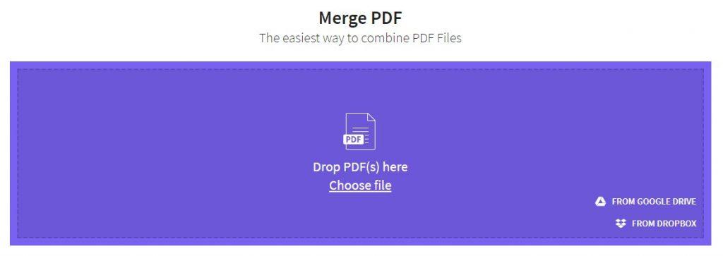 איחוד קבצי PDF