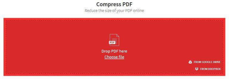 הקטנת קובץ PDF