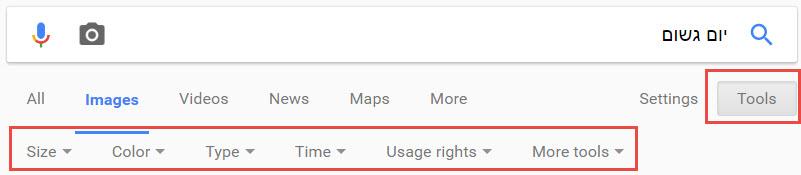 חיפוש ממוקד עם גוגל תמונות
